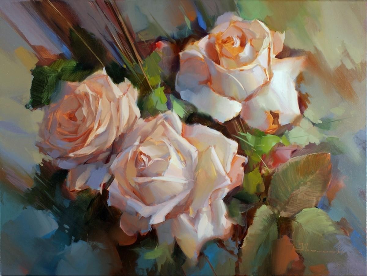 Картина Розы Крем де ля крем художник ...: картину.рф/art/rozy-krem-de-lya-krem